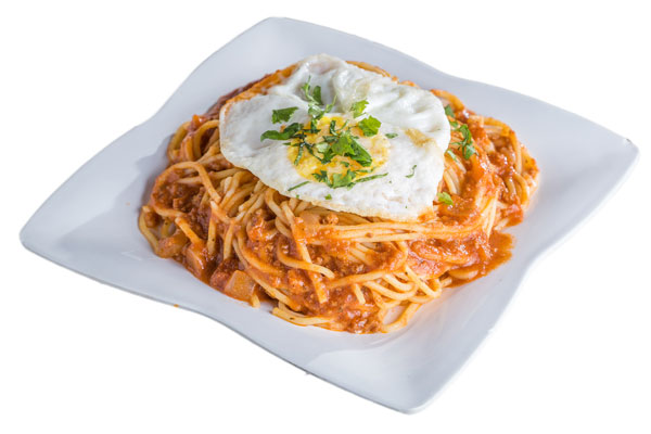 7 Minced Meat Sauce Spaghetti W Egg Baby Cafe Newark